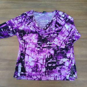 Fashion Bug Purple Cowl Neck Blouse